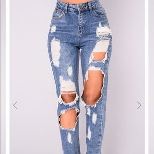 Jeans from fashion nova brand new with tags